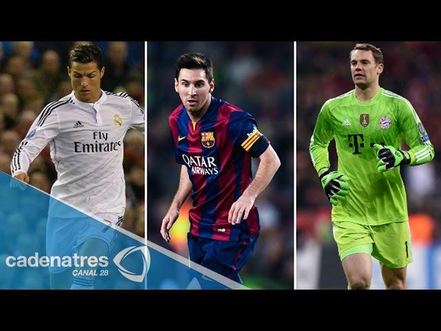 Cristiano, Messi y Neuer compiten por el Balón de Oro 2014