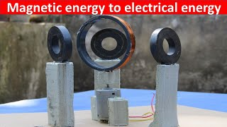 Free energy generator/for simple use/magnetic energy to electrical energy