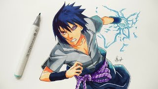 How To Draw Sasuke Rinnegan - Step By Step (Tutorial)