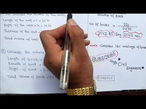 Calculation of Bricks in detail.