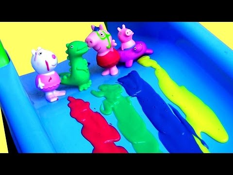 Thumbnail: Color Changing Peppa Pig Bathtime Party with Mermaid Elsa Bath Paint Crayons Surprises LEARN COLORS