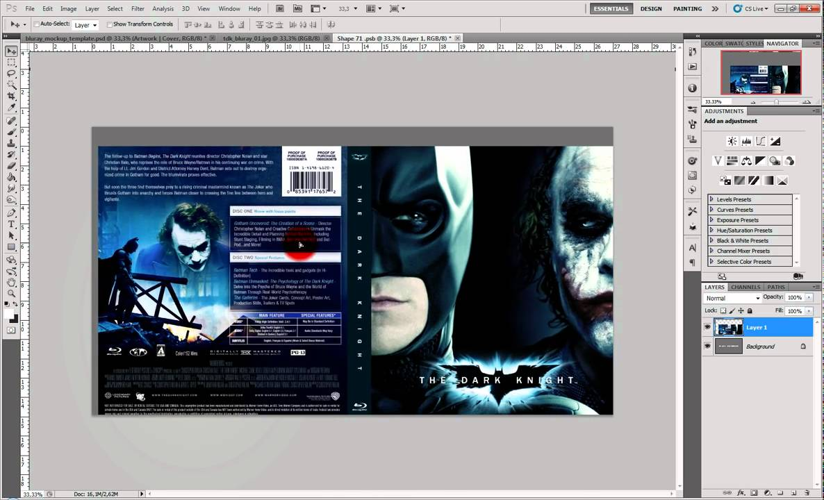 Photoshop Template Blu Ray Case Youtube