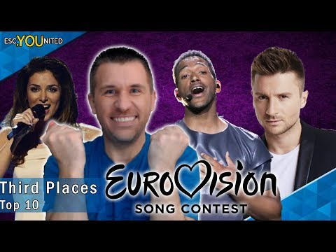 Eurovision Third Places: Top 10 | With Reaction (2010 - 2019)