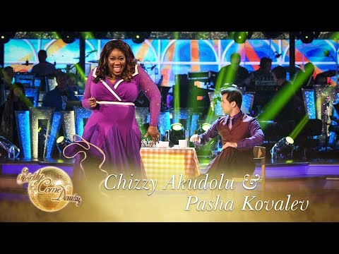Chizzy Akudolu and Pasha Kovalev Foxtrots to 'I'm a Woman'  Strictly Come Dancing 2017