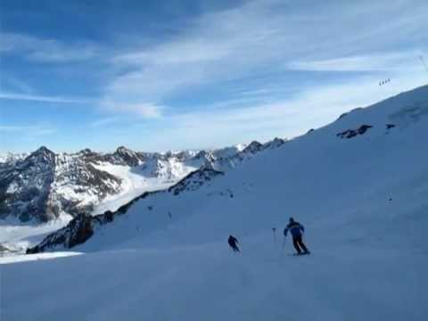 Snowboarding And Skiing Pitztal Austria