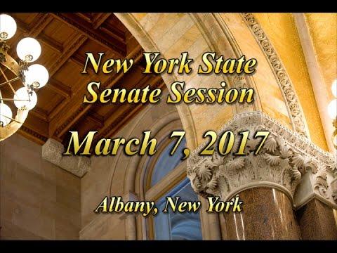 New York State Senate Session - 03/07/17