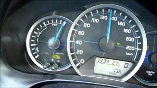 Toyota Yaris HSD Hybrid 0-160 km/h acceleration przyspieszenie 0-100