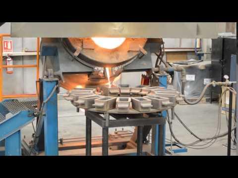 Pouring Molten Silver into Dore Bars