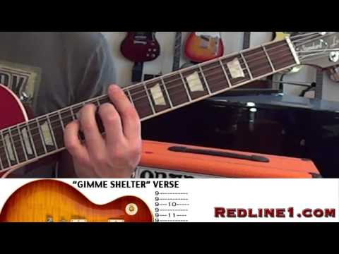 *TABS* How to Play THE ROLLING STONES Gimme Shelter Guitar Lesson REDLINE1