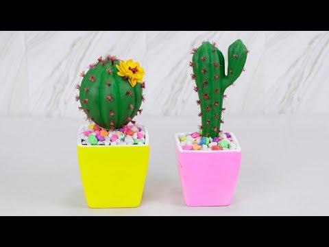 DIY Cactus    How to make Fake Cactus    cactus plant tutorial
