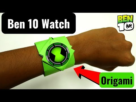 How To Make An Origami Ben 10 Omnitrix At Home Using Paper At Home