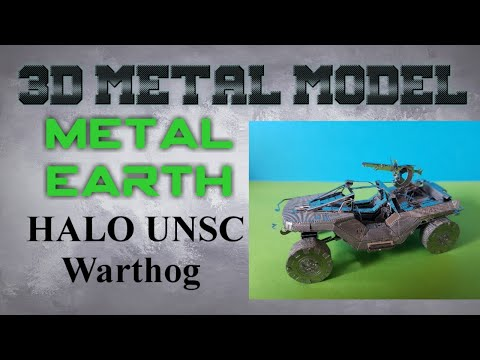 Metal Earth Build - Halo UNSC Warthog