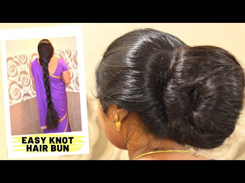 Easy & Quick Traditional Knot Hair Bun Hairstyle | How To .Perfect Knot Hair Bun Hairstyle Tutorial