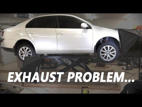 Fixing the Exhaust on the MK5 Volkswagen Jetta!  – DIY Repair!
