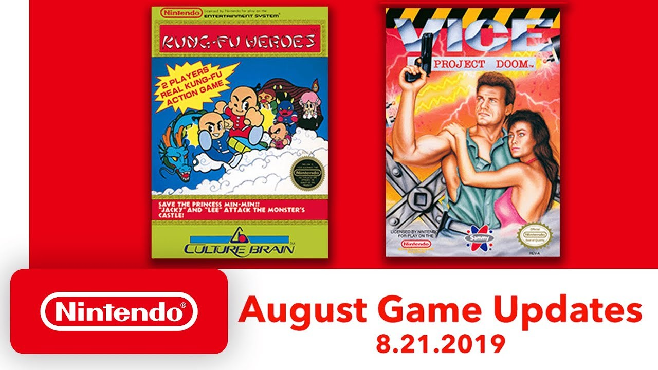 Nintendo Switch Online: Free NES Games for August 2019