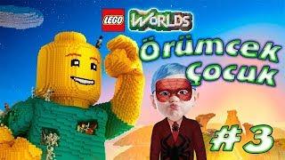 Örümcek Çocuk Lego Worlds Oynuyor Dondurma Gezegeni Örümcek Çocuğun Oyun Maceraları