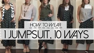 How to Wear 1 Jumpsuit 10 Ways | What Kate Finds