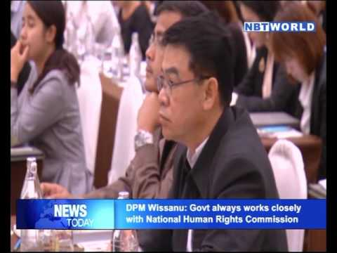 DPM Wissanu Govt always works closely with National Human Rights Commission
