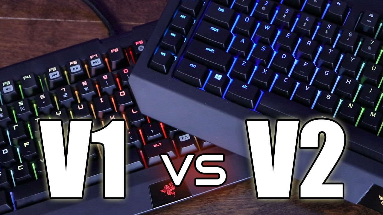 56a03d404fe What's NEW With the V2? Razer Blackwidow Chroma V1 VS V2 - YouTube