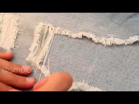How to restore ripped jeans to store condition