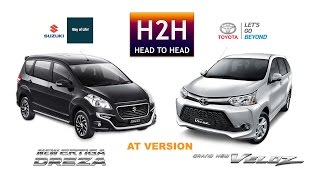 Head2Head 72 Suzuki Ertiga Dreza vs Toyota Grand New Veloz
