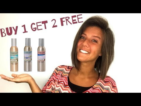 Yankee Candle: Buy 1 Get 2 Free Room Sprays - Last Day!