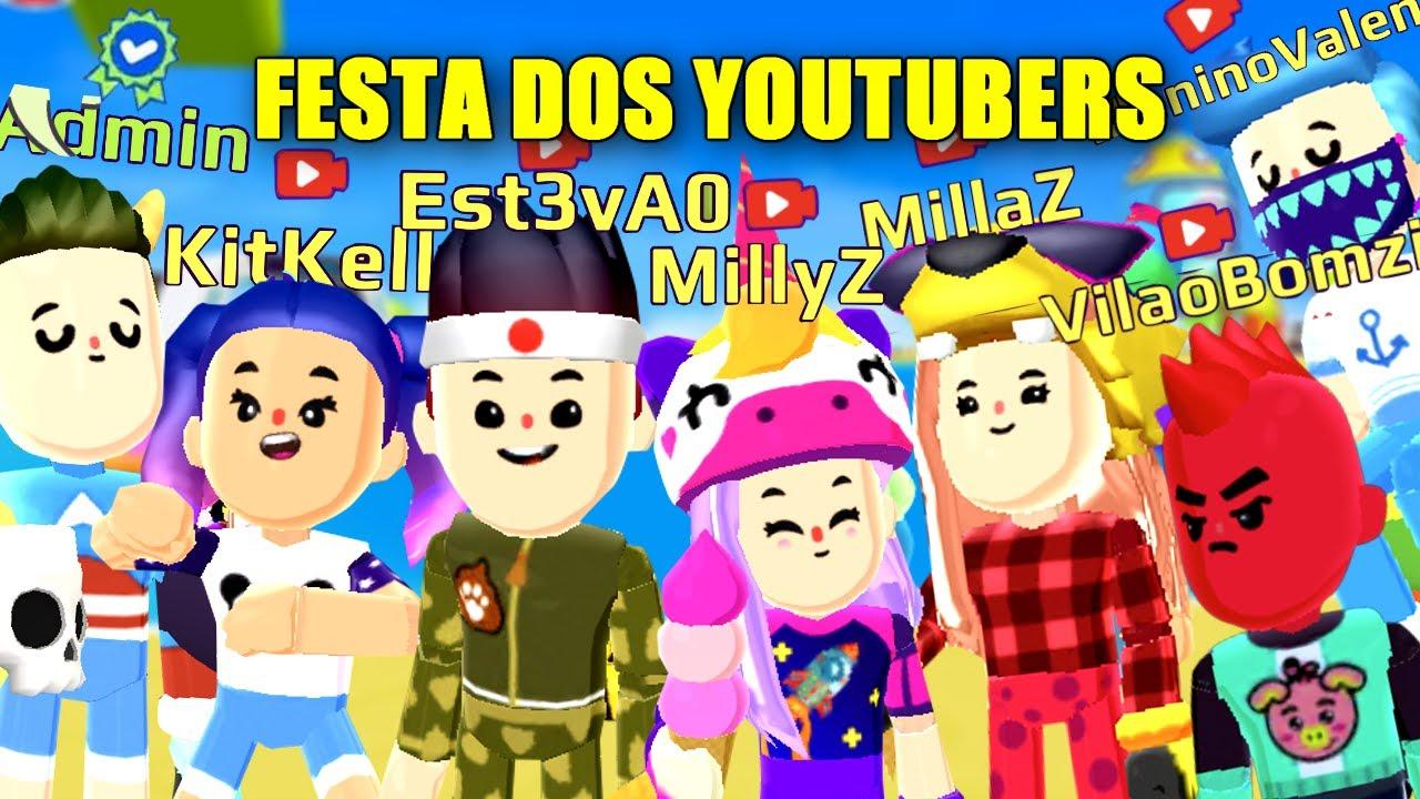 FESTA DOS YOUTUBERS !! - ANIVERSÁRIO DE 1 ANO DO PK XD