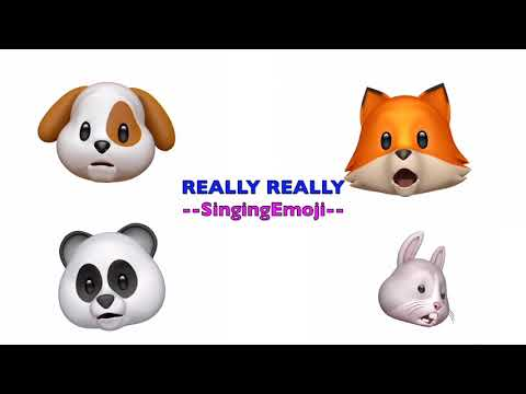 [Animoji Karaoke] Emoji Singing REALLY REALLY -- WINNER