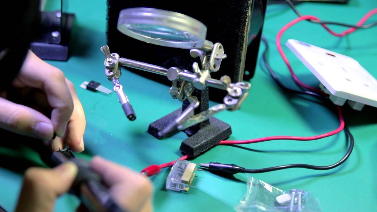 TTL logic controlled mains plug (makerVblog #001) - YouTube
