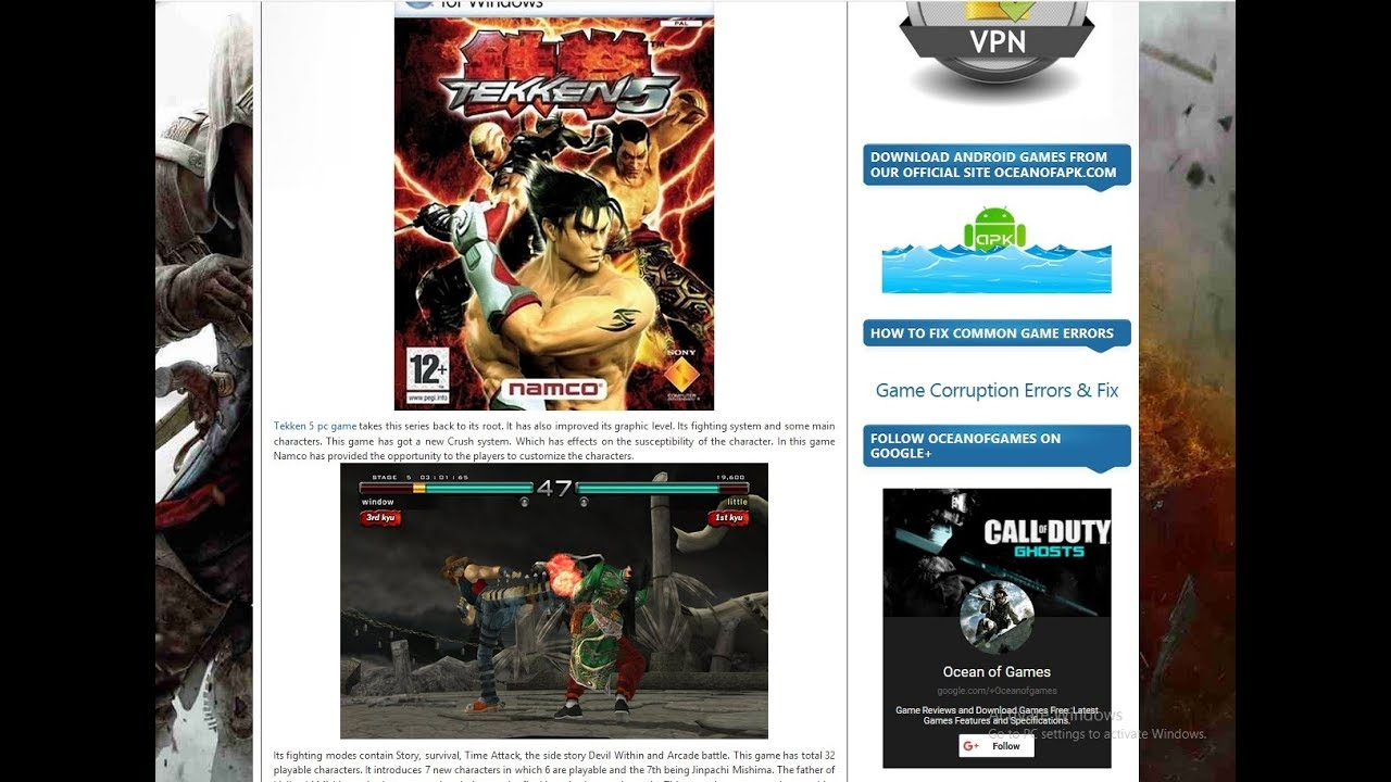 tekken 5 free download for windows 7 ultimate