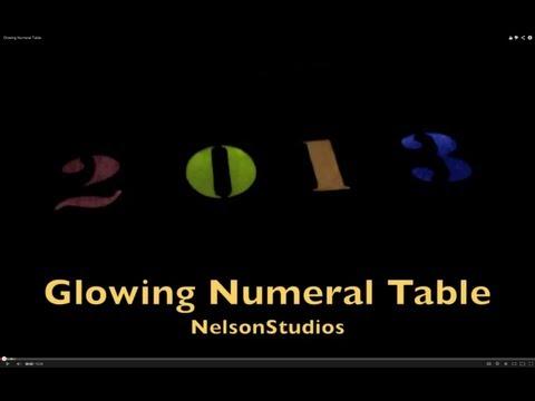 Illuminated Numeral Table