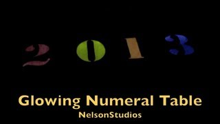 Blinking Glowing Number Table