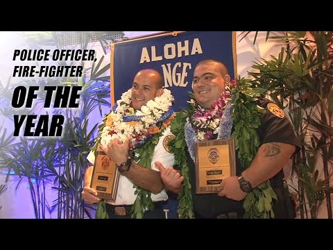Hawaii County Police, Firefighter of the Year