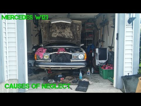 Project W123 Part 7: OM617 engine parts disassembly & clean up. So much oil sludge,so much neglect:(