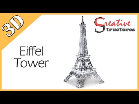 3D metal model & puzzle - Eiffel Tower (International Architecture)