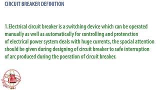 what is circuit breaker ? circuit breaker definition.