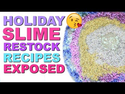 HOLIDAY SLIME RESTOCK VIDEO!  RECIPES EXPOSED! HOW TO MAKE SHOP RECIPES!