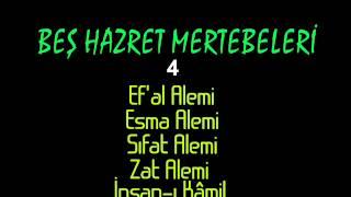 Beş Hazret Mertebeleri (Hazarati Hamse- Ef
