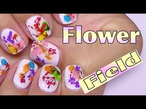 Dried Flower Gel Nails Tutorial,How To Encapsulate Dried Flowers In ...