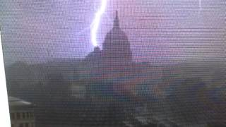 Lightning Strikes The Library Of Congress Washington DC