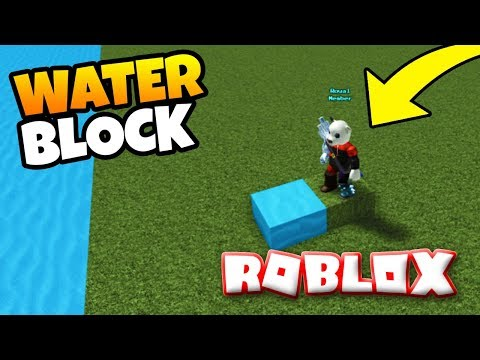 *NEW* WATER BLOCK! In Build A Boat For Treasure ROBLOX (TROLLING)