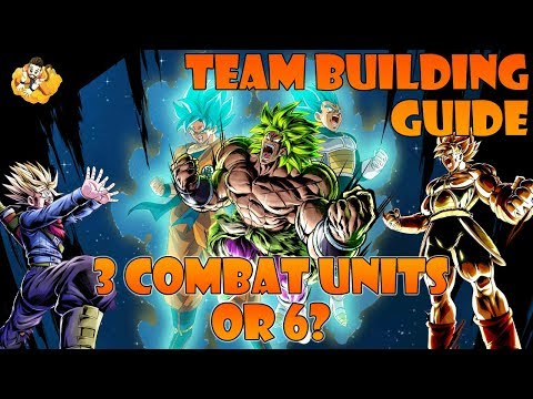 3 Or 6 Combat Units Team Building Guide Dragon Ball Legends DB DBL DBZ