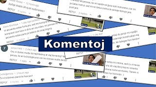 Mi respondas al komentoj | Esperanto vlogo