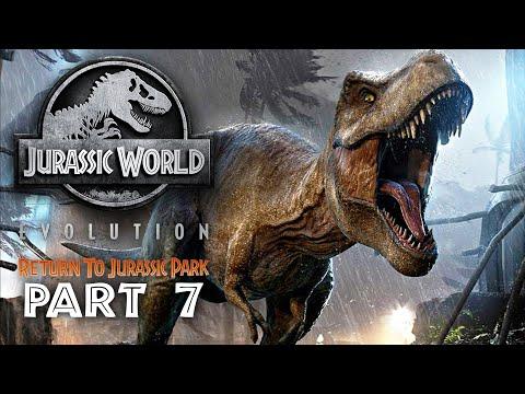 Jurassic World Evolution - RETURN TO JURASSIC PARK Guía de juego Parte 7 - T-REX + vídeo