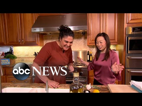 Samin Nosrat Teaches A Home Chef How To Cook With Fat And Heat L GMA