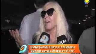 Susana Giménez regresó en el mismo avión que Luisana Lopilato y contó un secreto de Noah