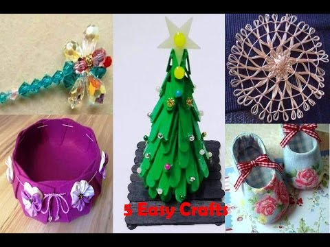 Handicraft Making Ideas 5 Minute 5 Easy Crafts Hw To Make Art And