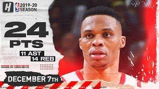 Russell Westbrook 24 Pts 14 Reb 11 Ast Full Highlights | Suns vs Rockets | December 7, 2019