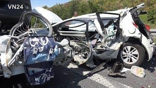 25.06.2019 - VN24 - Tödlicher Unfall auf der A2 - LKW zerquetscht PKW an Stauende