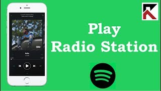 How To Play A Radio Station Base On A Song Spotify iPhone screenshot 3